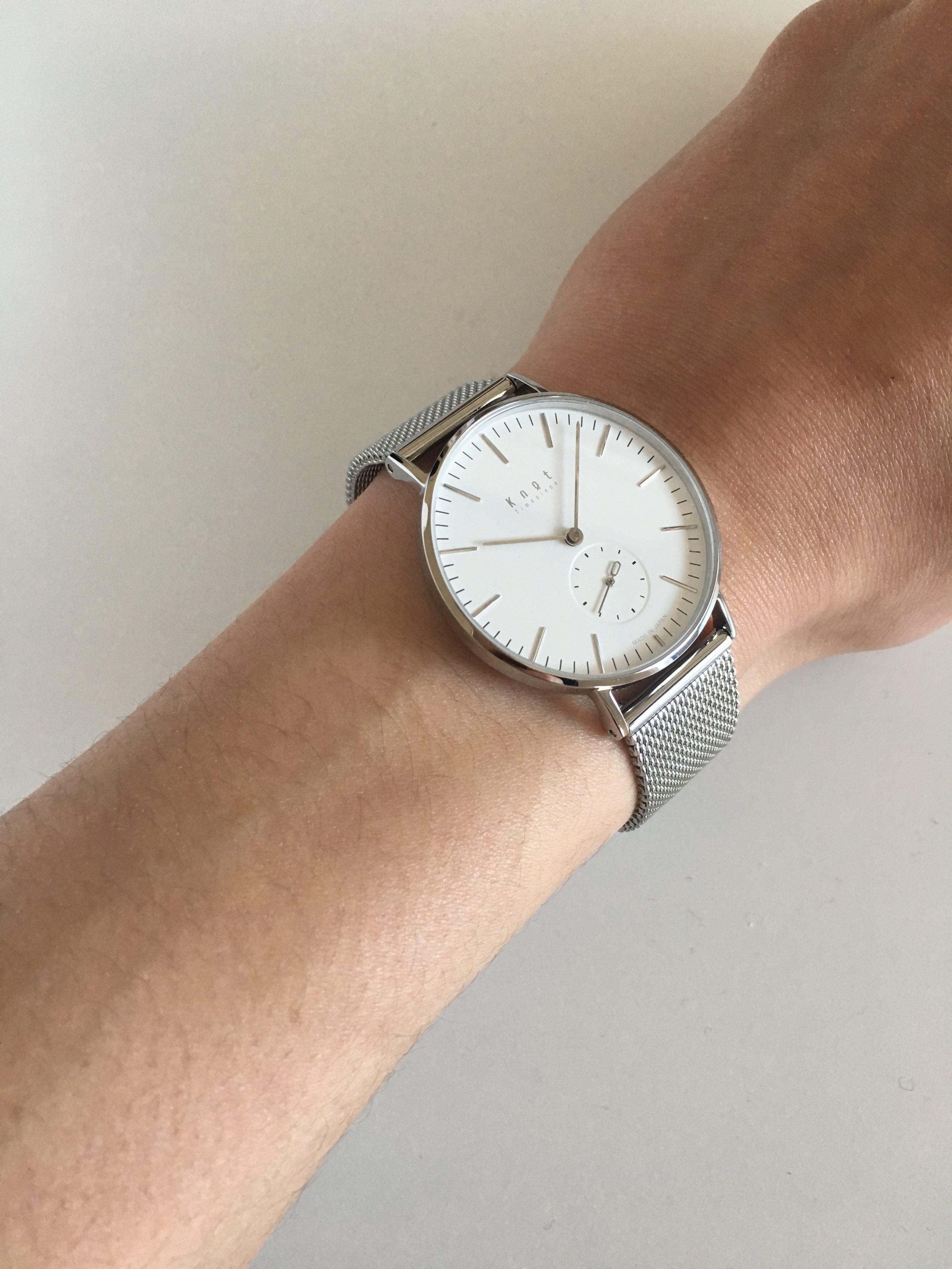 時計knotと一緒にメッシュバンドを買っとけ|ミニマルなカスタマイズ
