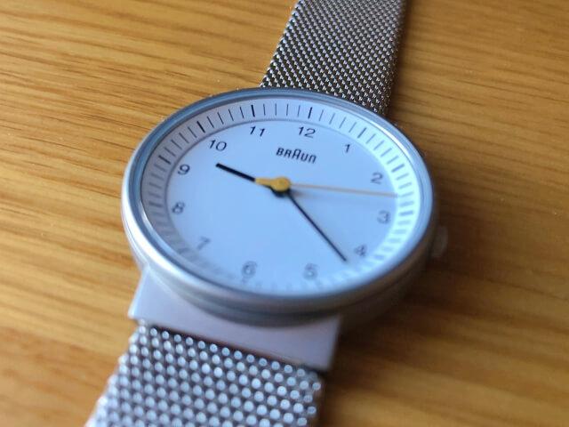 ブラウン腕時計BN0031WHSLMHLのインデックスの傾斜