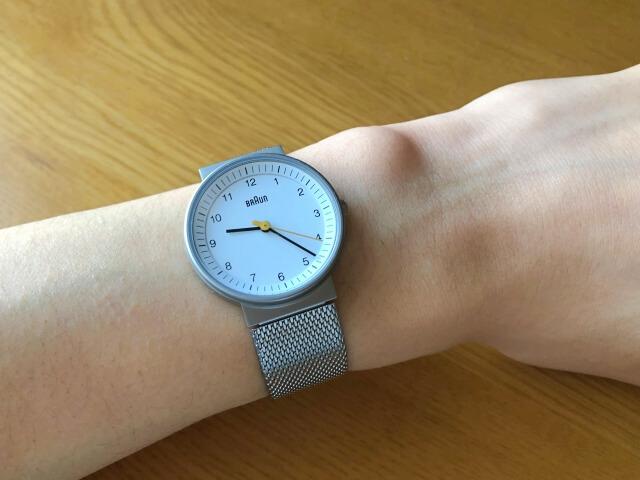 ブラウン腕時計BN0031WHSLMHLの着用写真
