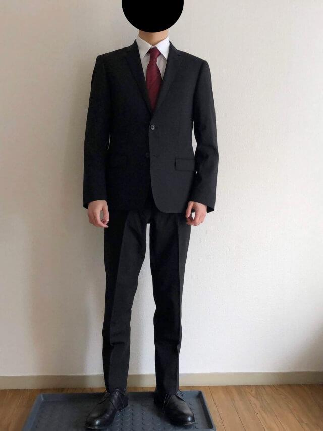 ユニクロセミオーダースーツを実際に着てみた