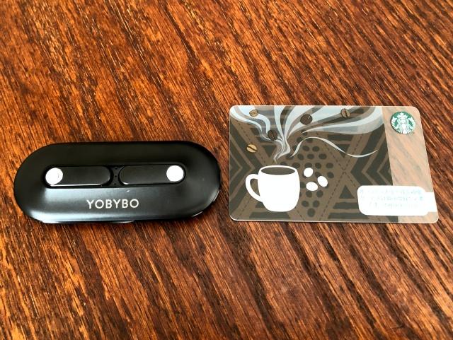YOBYBOのCARD20の大きさ