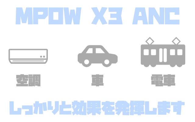 MPOW X3 ANCのノイキャンのレビュー